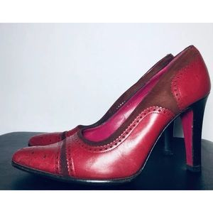 burgundy/red leather By Emanuel Ungaro sz 6.5